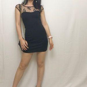 NWOT American Eagle black lace bodycon mini dress